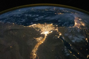 Nile River Delta at Night http://earthobservatory.nasa.gov/IOTD/view.php?id=46820